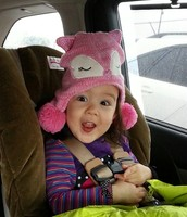 silly Emerson in the car