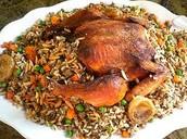 دجاج محشي - Traditional Meal During the Eid Celebration