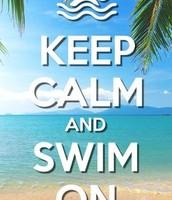 swimming on