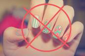 Hand hygiene (nails, nail polish)