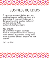 Business Builders Group (replacing Rising Stars)