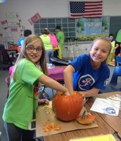 Avery and Payton in Pumpkin Math!