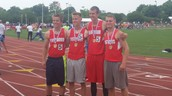 State Champion Boys 4x400 Team - Baugher, Church, Reiter and Emahiser