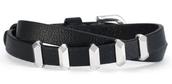 Remy Wrap Bracelet- Black/Silver