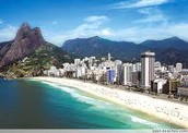 One of many beaches in Brazil