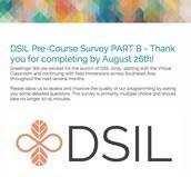 REMINDER:  Pre-Course Survey PART B