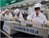 Manufacturing takes place in china because it is cheaper