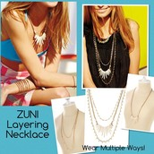 ZUNI LAYERING NECKLACE - $98