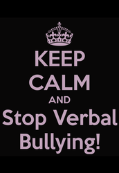 What is Verbal bullying?