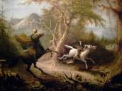 Headless horseman and Ichabod Crane