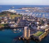 Une vue aérien de Saint-Malo