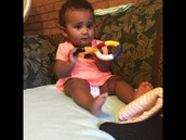 Ashlyn enjoys the tangle toy!