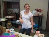 Betsy Brander braved 31 children with frosting