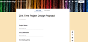 20% Time Project Design Planning