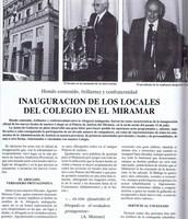 Inauguración de la sede colegial en el Miramar (I)