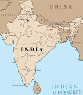The map of india and napal