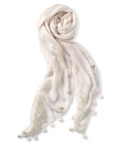 Westwood Tassel Scarf - White/Metallic $30