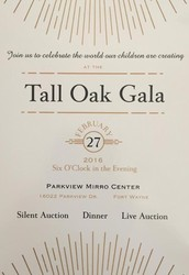 Tall Oak Gala - the Invitations have been mailed!