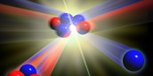 Atoms collide and separate