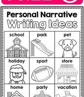 Personal Narrative Ideas...