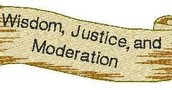 Motto- Wisdom, Justice, and Moderation