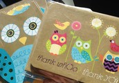 Cute Owl Thank You & Note Cards