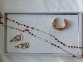 Aileen necklace, Secret garden cuff,Reverie earrings