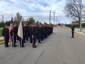 BGHS JROTC Batallion in formation and ready to march in the Veteran's Day Parade.