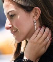 SOLD!!!! versatile 3 way - Arrow drop earrings----was $54, now $25!