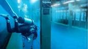Scuba Diver in the Subway