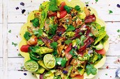 Salad is always colorful and delicious !!