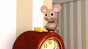 The scared mouse