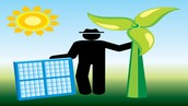 person holding solar power ernergy.