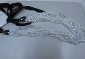 Luxe witte halsketting Parel als cadeau ontvangen....