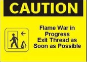Help keep flame wars under control