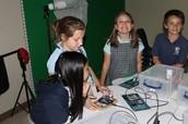 Using a light sensor and an LED 4th Grade made Night Lights