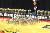 West High Poms Place 2nd at State