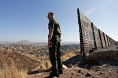 Border patrol man on watch for illegal crossing.