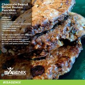 Choc Peanut Butter Protein Pancakes
