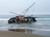 Fishing Boat Grounded-