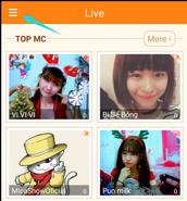 Mở ứng dụng, chọn 三 tại góc cao bên trái