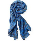 Luxembourg Scarf- Cerulean Tiger- $20