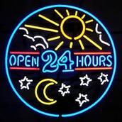 Estamos siempre abiertos.