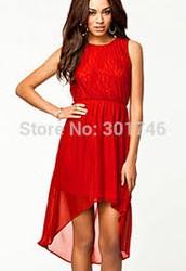 Vestido de verano rojo Short (Una de las tendencias más populares)