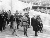 Hitler Entering the Olympics