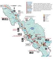 Map of Banff National park