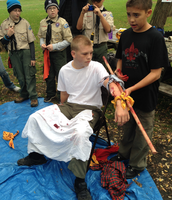 Boy Scout Game - First Aid with fake blood! AWESSOME!