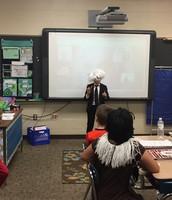Albert Einstein Presenting