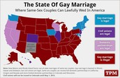 States That allow homosexuals to marry