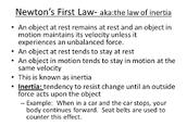Isaac Newton 3 laws
